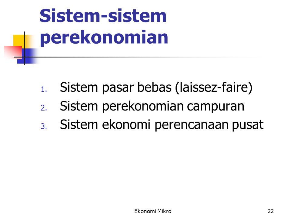Sistem-sistem perekonomian