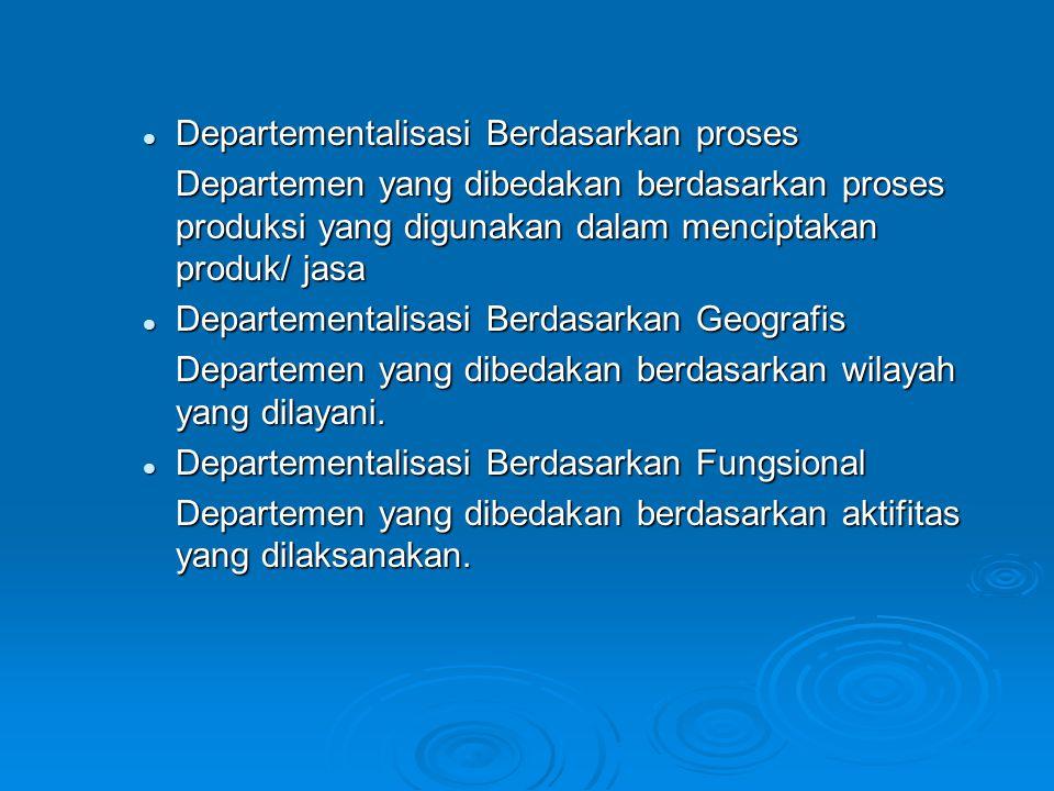 Departementalisasi Berdasarkan proses