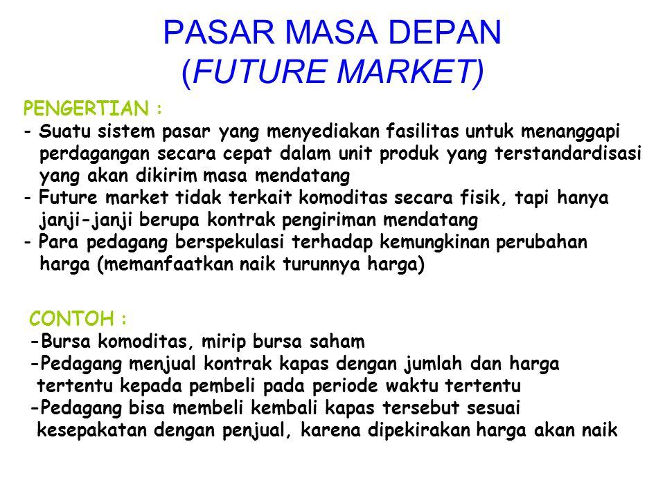 PASAR MASA DEPAN (FUTURE MARKET)