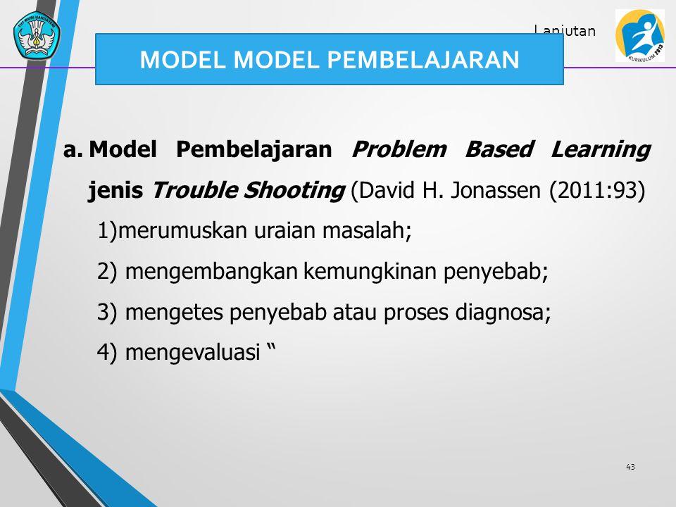 MODEL MODEL PEMBELAJARAN