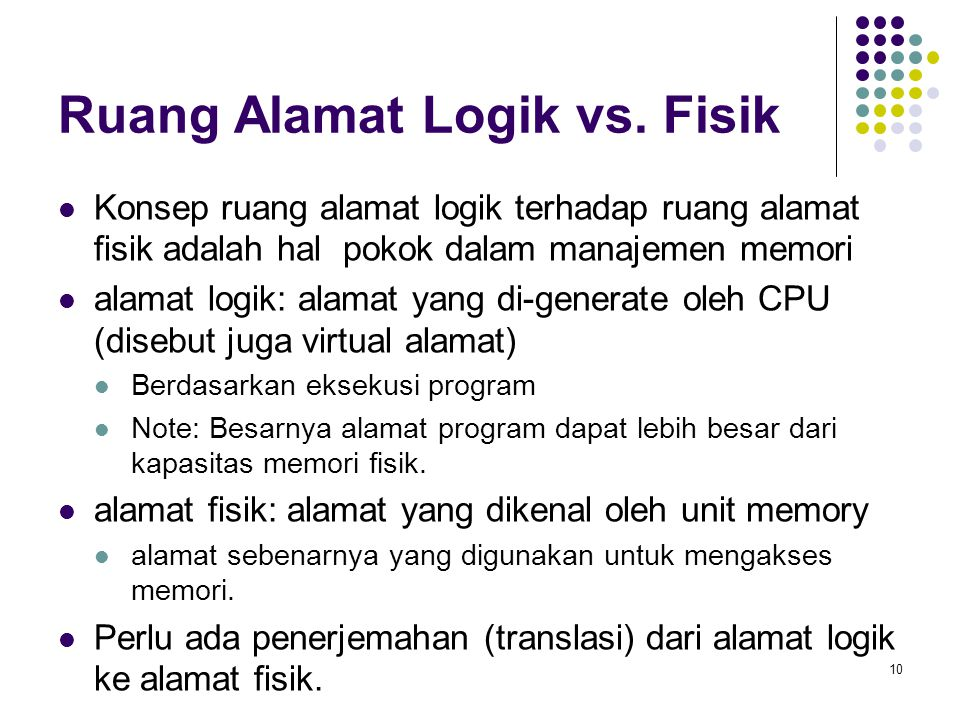 Ruang Alamat Logik vs. Fisik