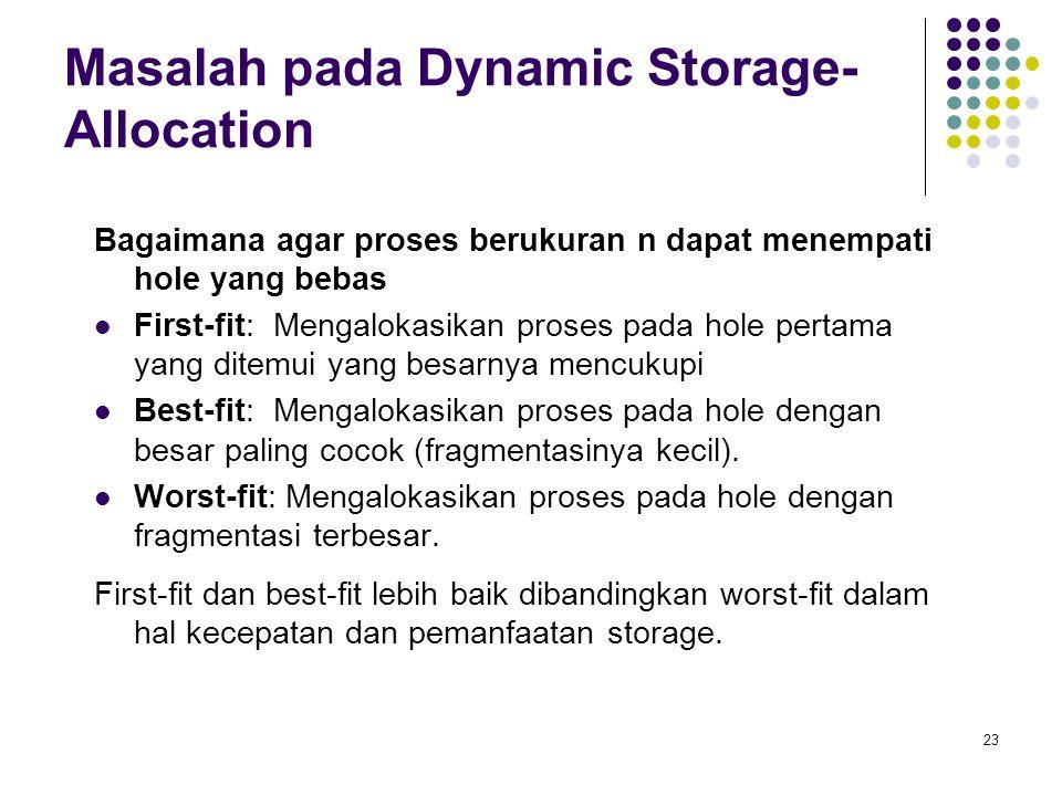 Masalah pada Dynamic Storage-Allocation