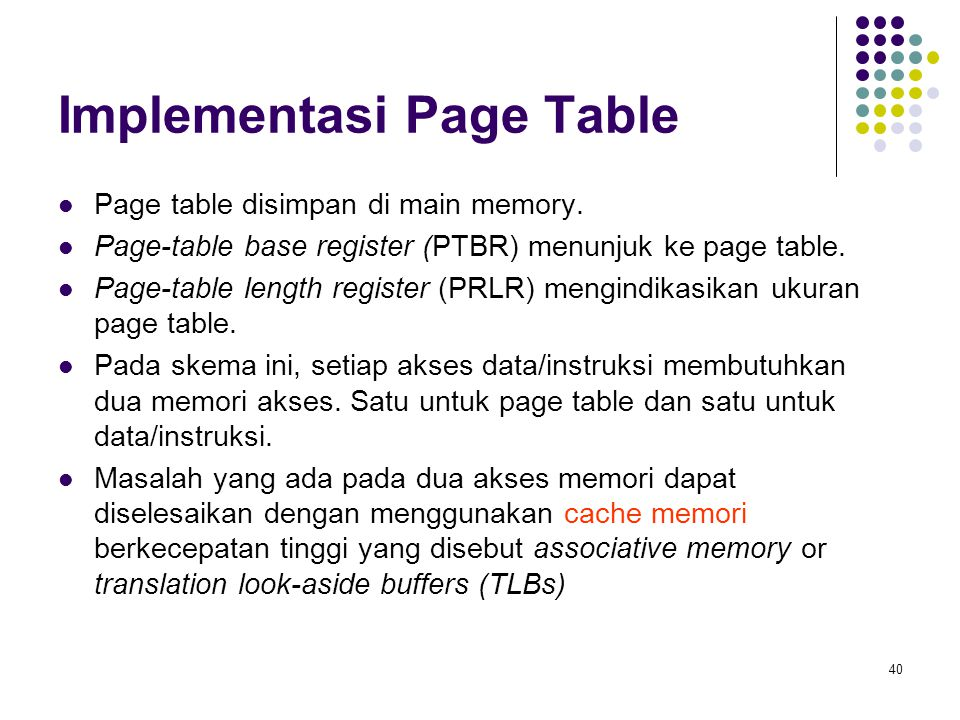 Implementasi Page Table