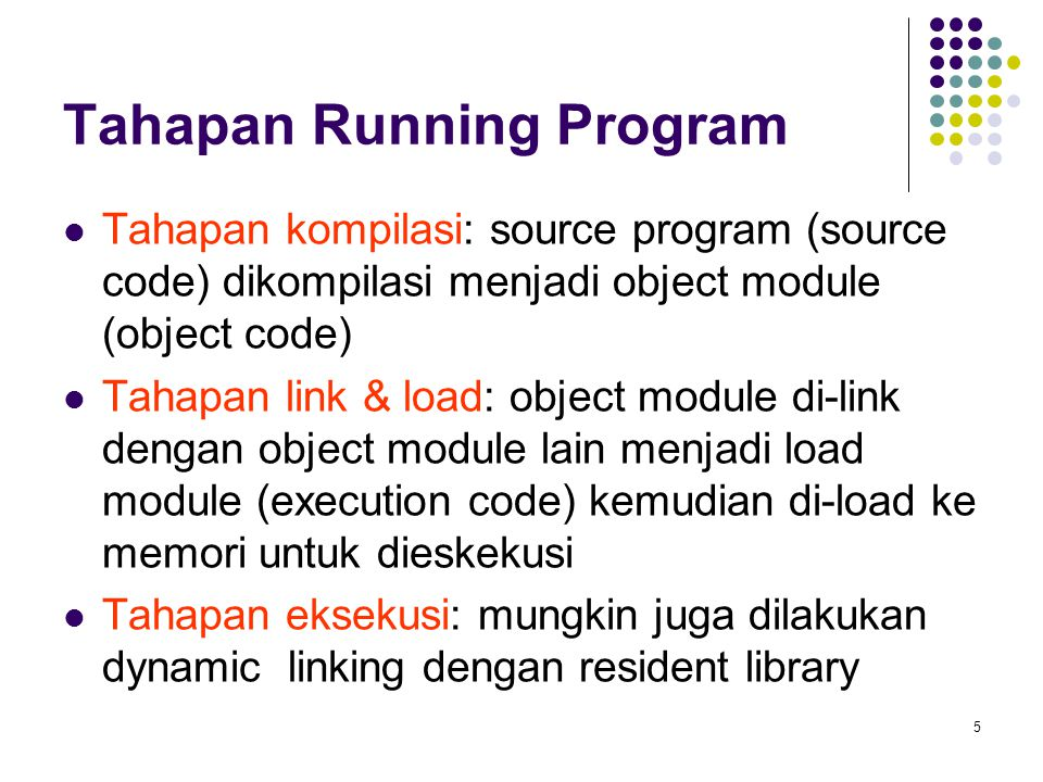 Tahapan Running Program
