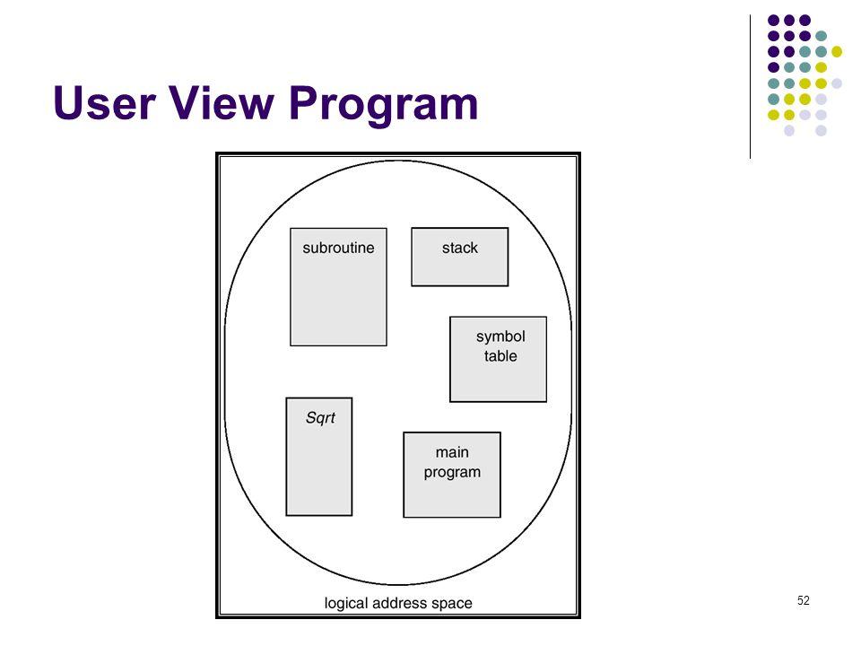 User View Program
