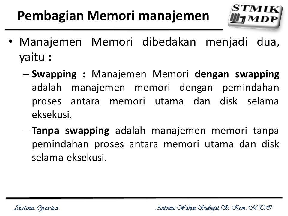 Pembagian Memori manajemen