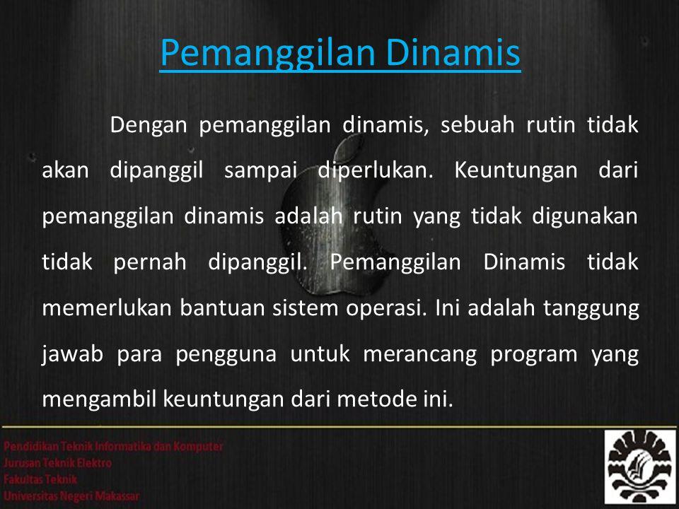 Pemanggilan Dinamis