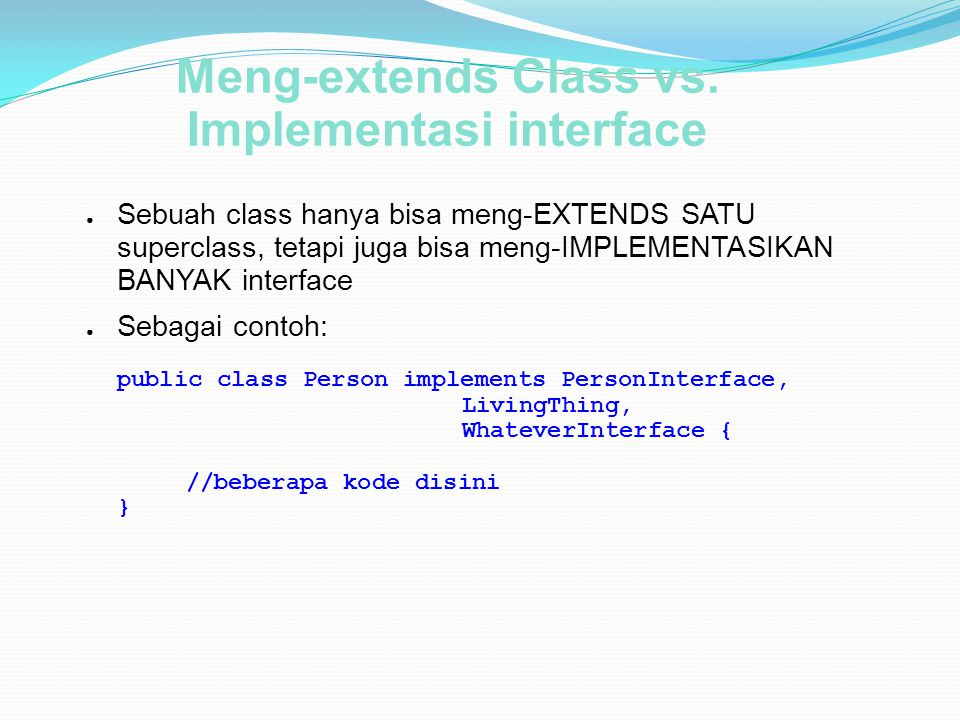 Implementasi interface