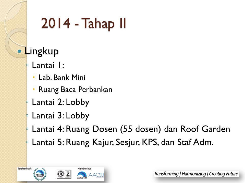 2014 - Tahap II Lingkup Lantai 1: Lantai 2: Lobby Lantai 3: Lobby