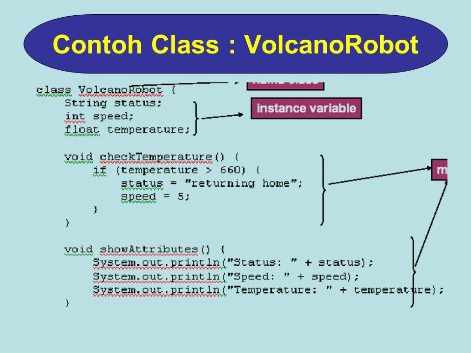 Contoh Class : VolcanoRobot