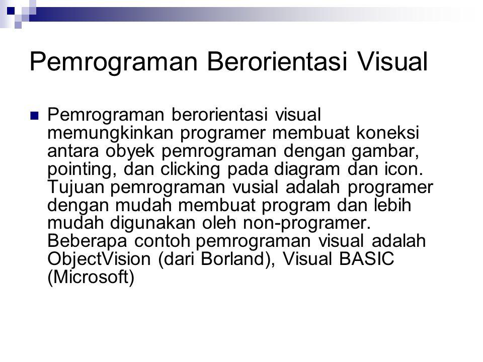 Pemrograman Berorientasi Visual