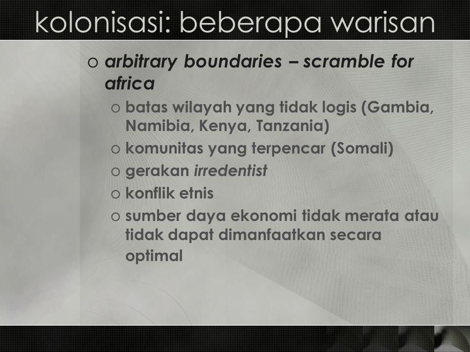 kolonisasi: beberapa warisan