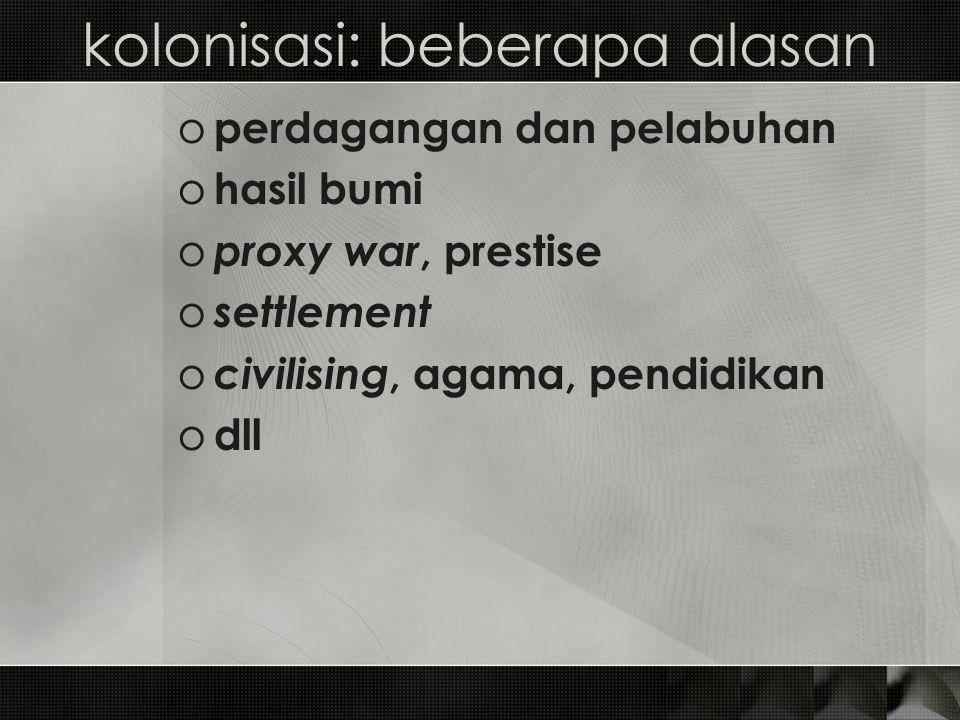 kolonisasi: beberapa alasan