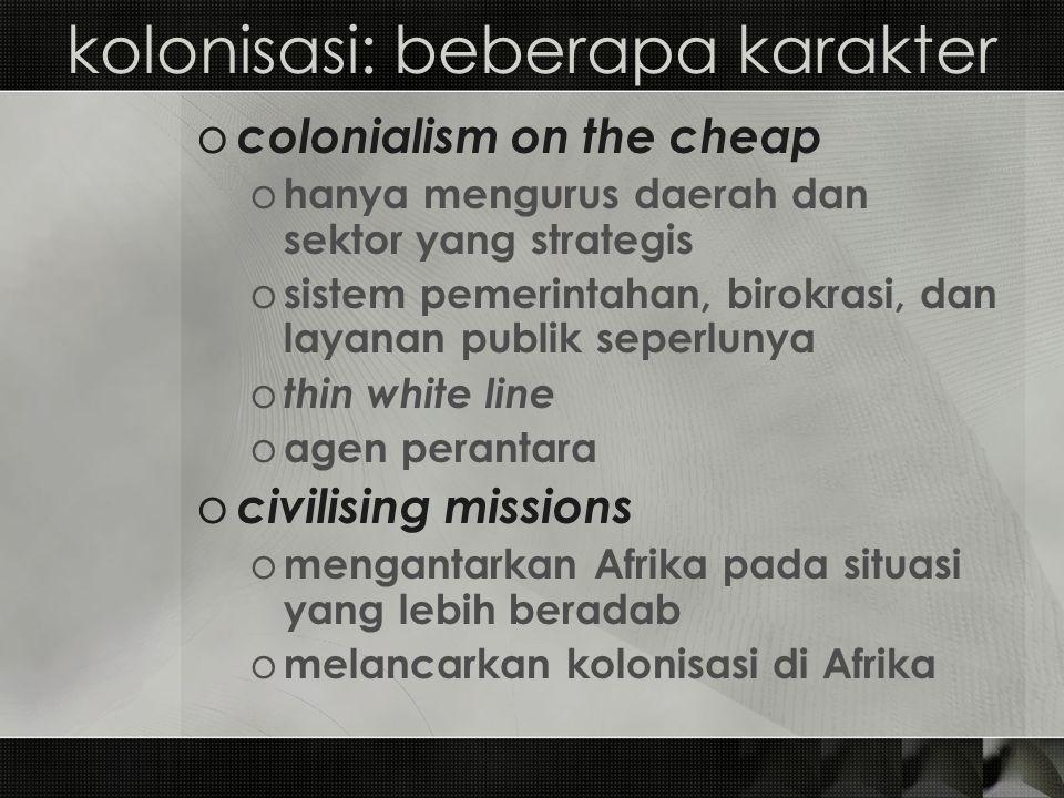 kolonisasi: beberapa karakter