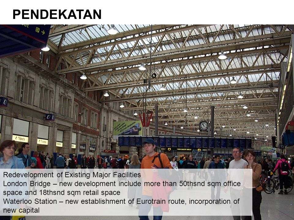 PENDEKATAN Redevelopment of Existing Major Facilities