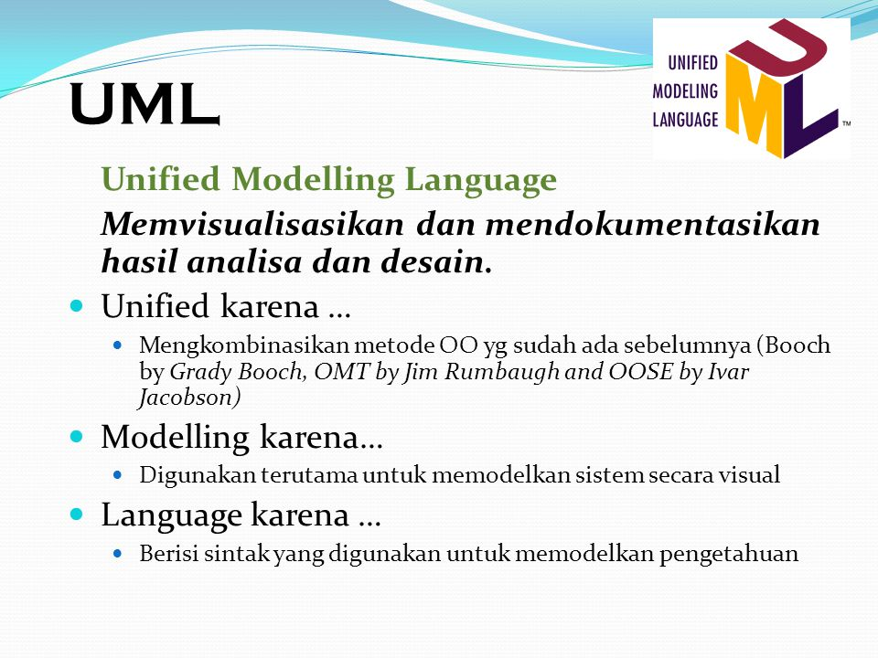 UML Unified Modelling Language
