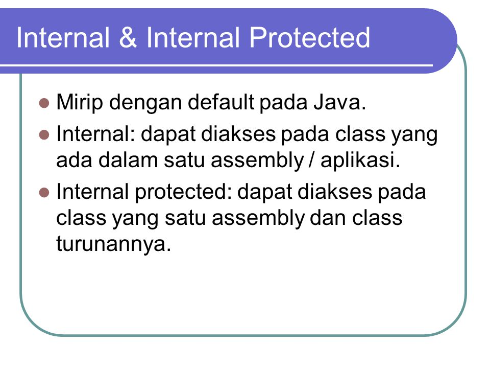Internal & Internal Protected