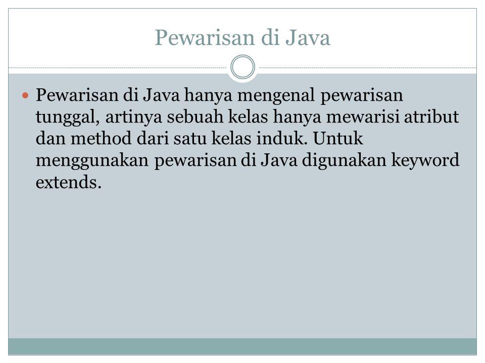 Pewarisan di Java