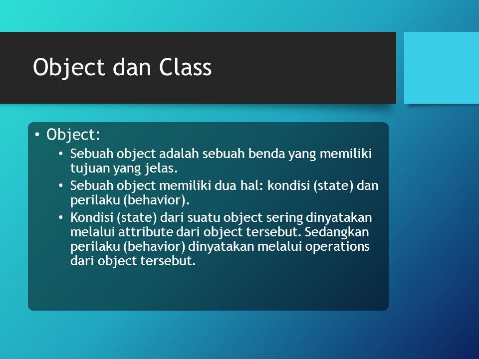 Object dan Class Object: