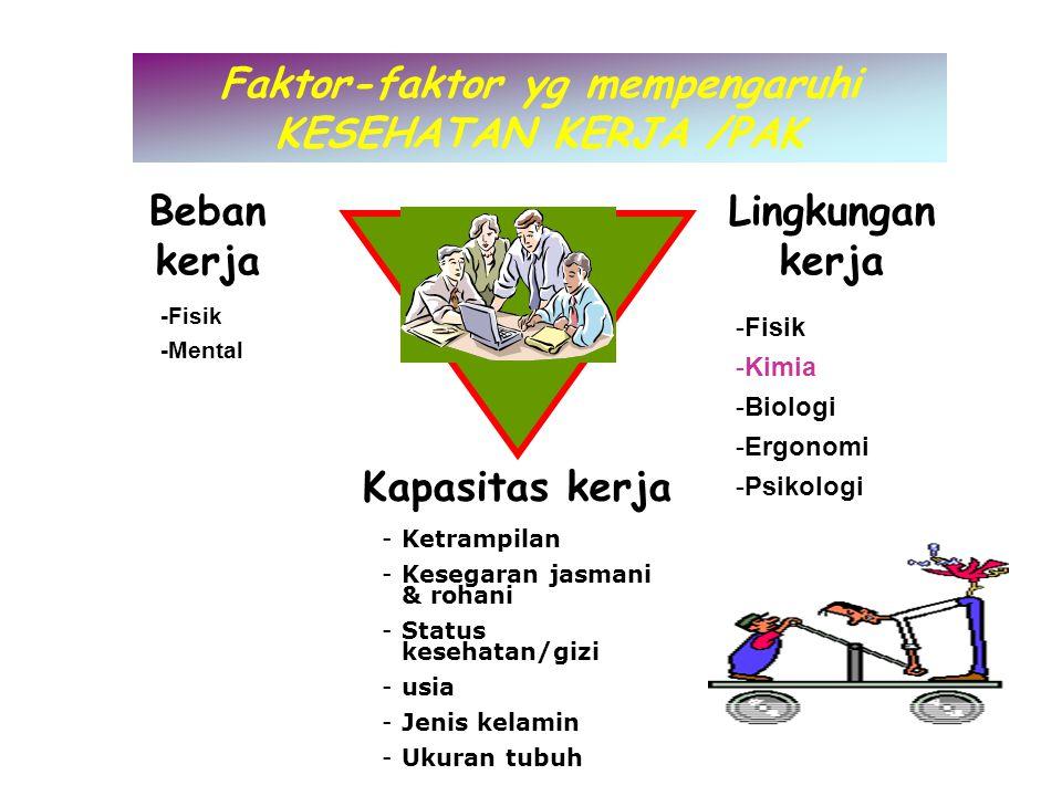 Faktor-faktor yg mempengaruhi KESEHATAN KERJA /PAK