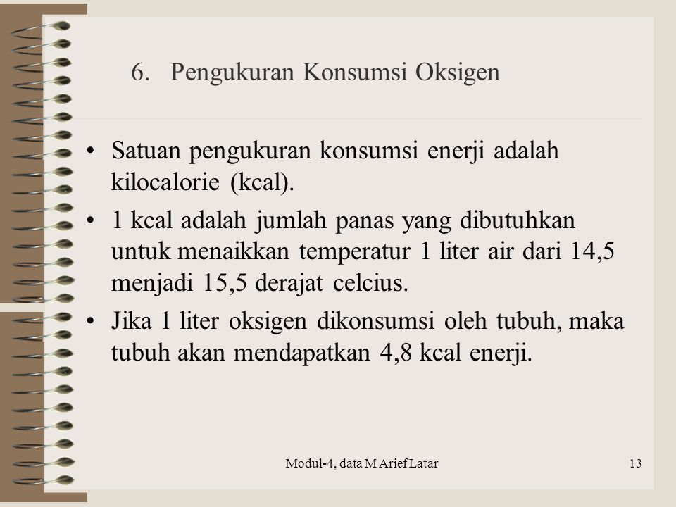 6. Pengukuran Konsumsi Oksigen