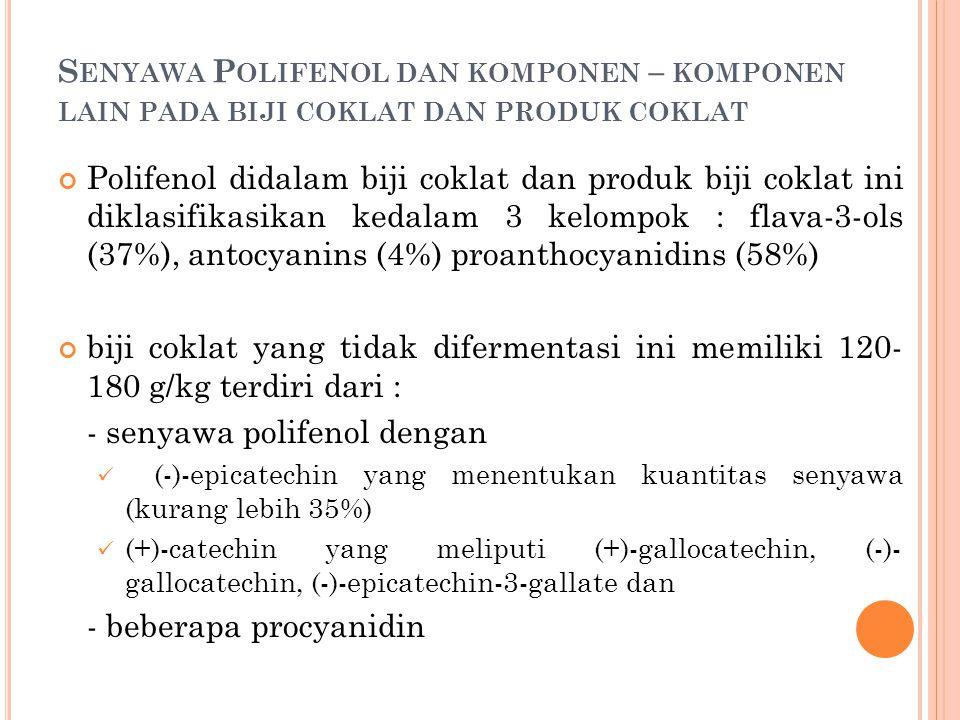 - senyawa polifenol dengan