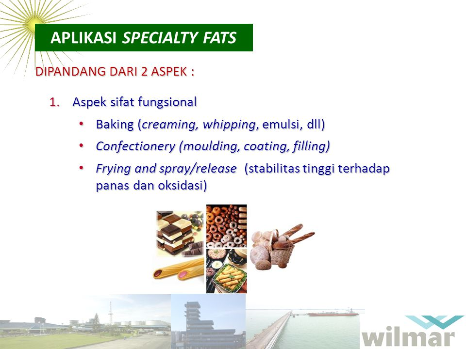 APLIKASI SPECIALTY FATS