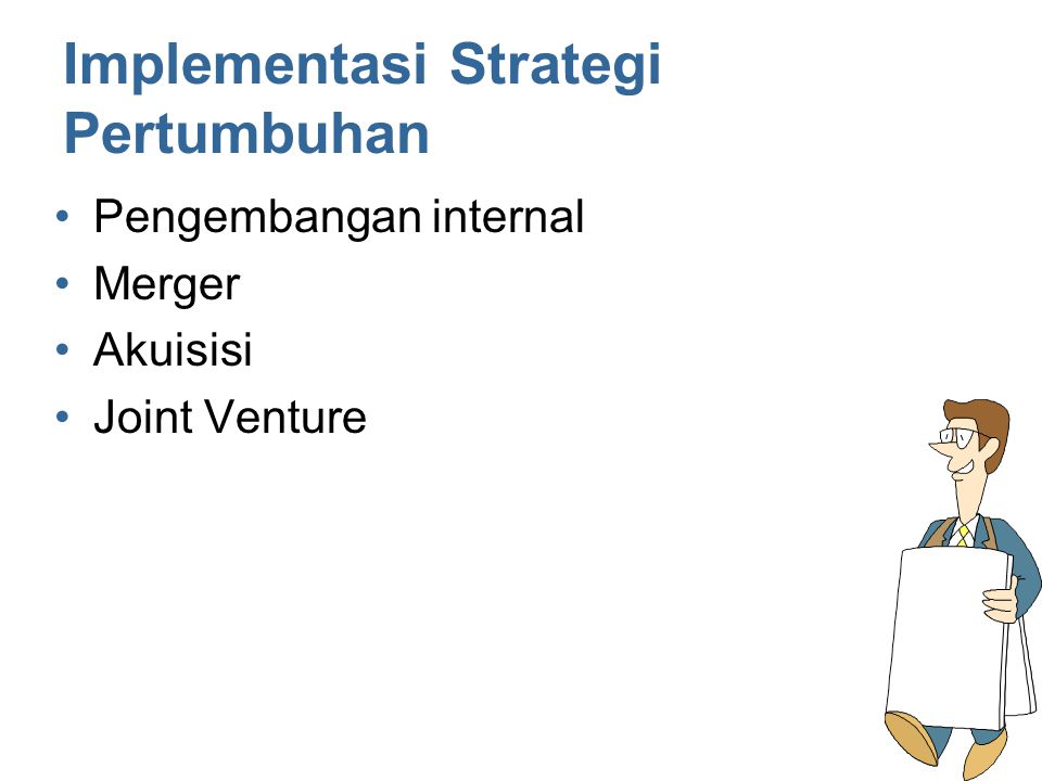 Implementasi Strategi Pertumbuhan