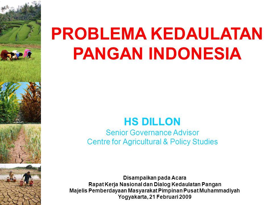 PROBLEMA KEDAULATAN PANGAN INDONESIA