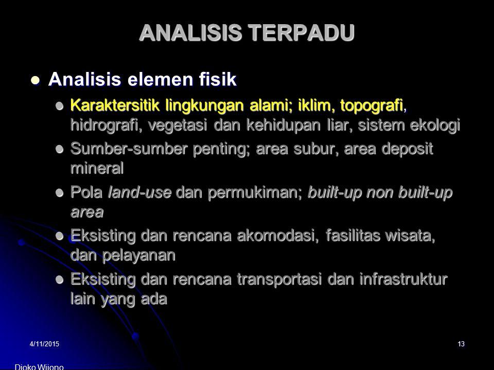 ANALISIS TERPADU Analisis elemen fisik