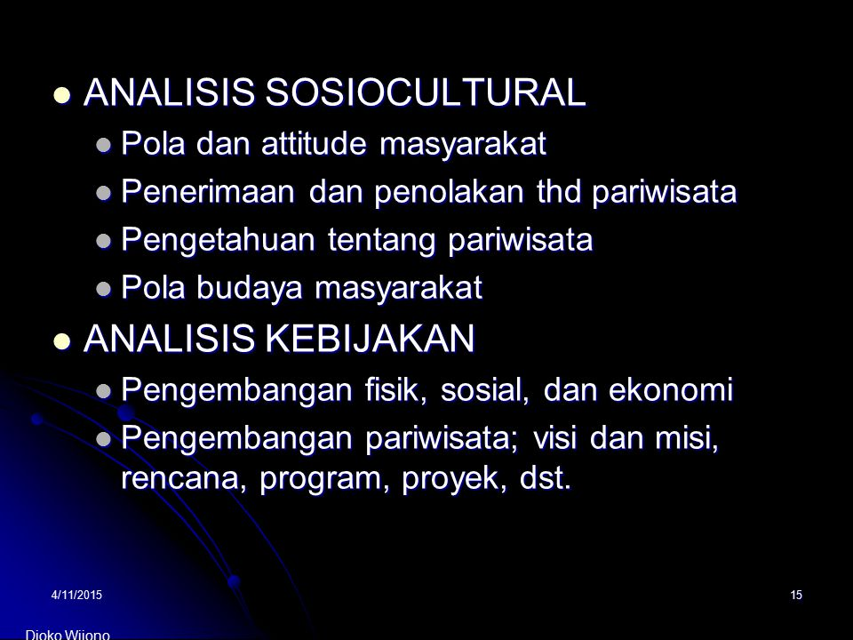 ANALISIS SOSIOCULTURAL
