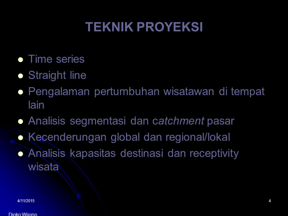 TEKNIK PROYEKSI Time series Straight line