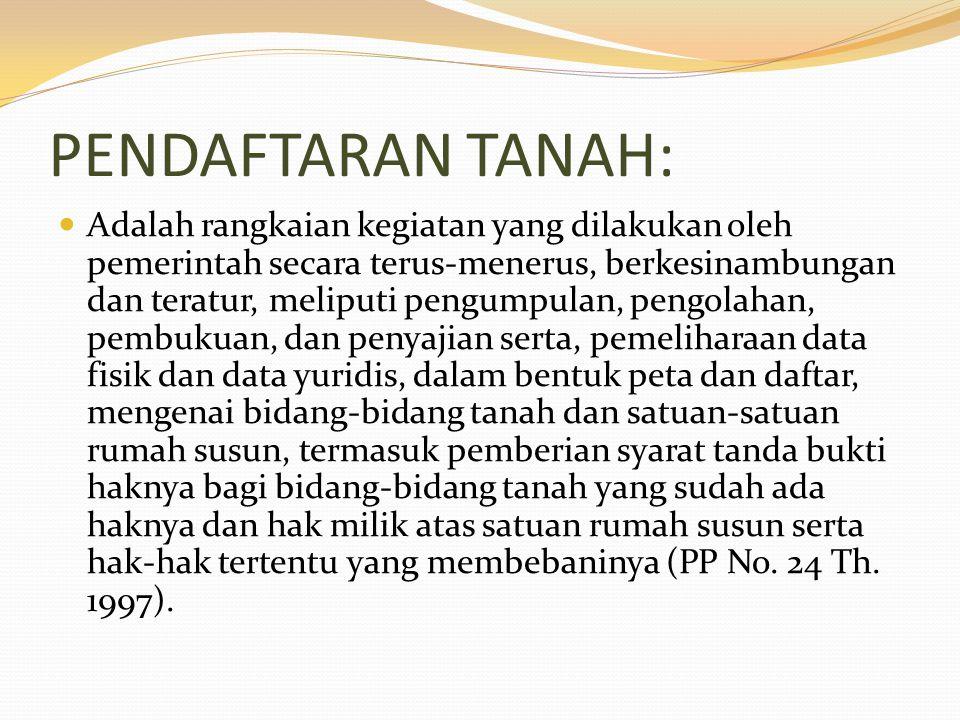 PENDAFTARAN TANAH: