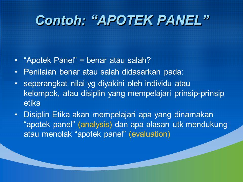 Contoh: APOTEK PANEL