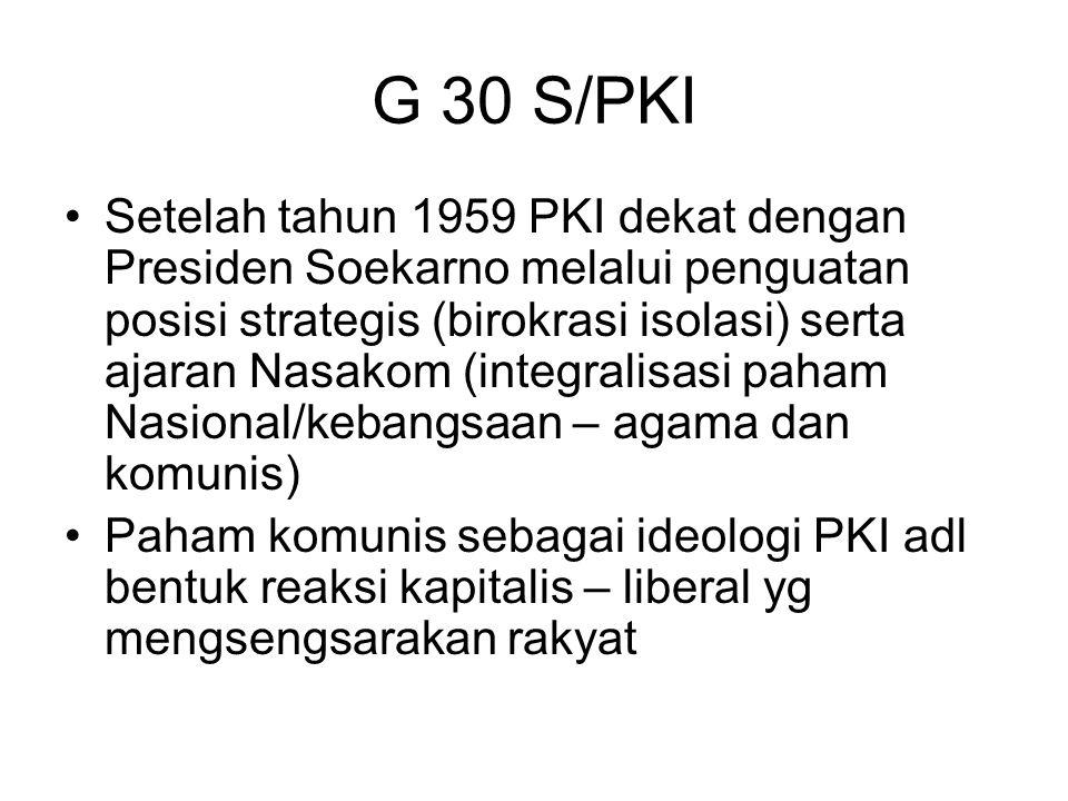 G 30 S/PKI