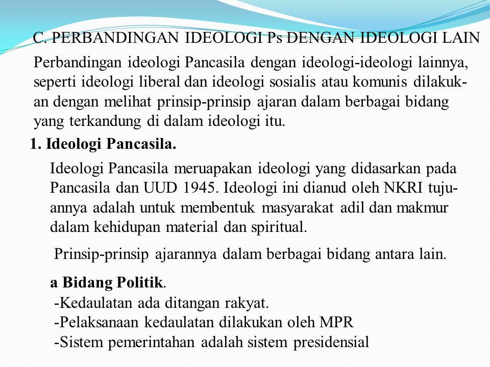 C. PERBANDINGAN IDEOLOGI Ps DENGAN IDEOLOGI LAIN
