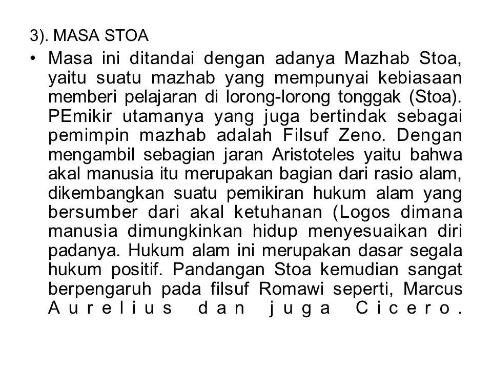 3). MASA STOA