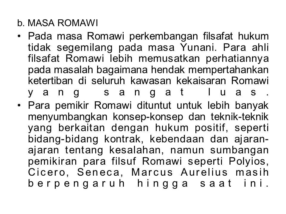 b. MASA ROMAWI