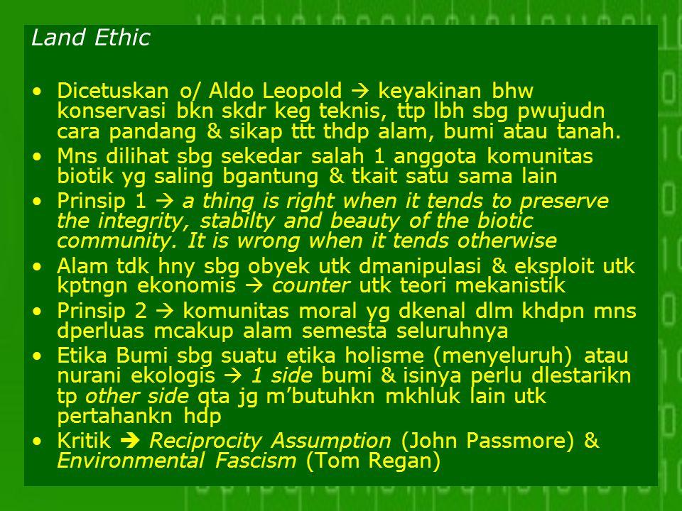 Land Ethic