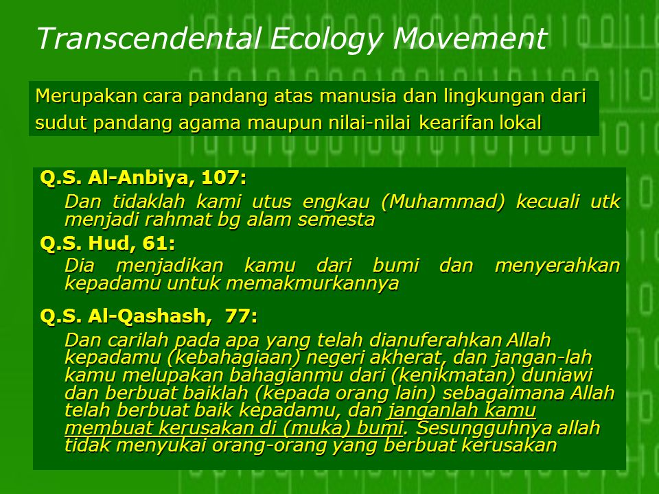 Transcendental Ecology Movement