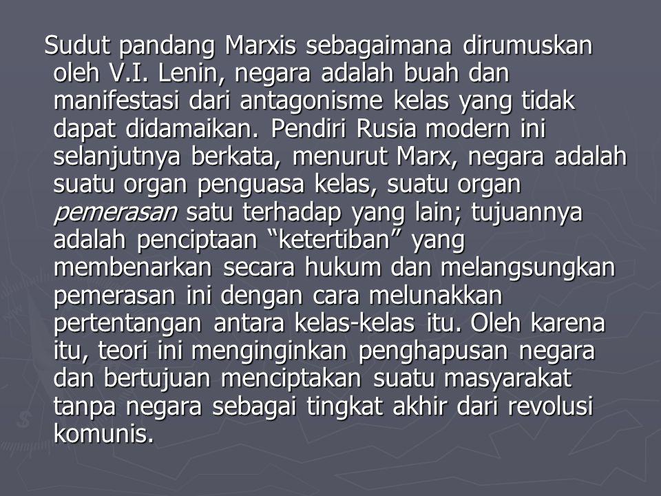 Sudut pandang Marxis sebagaimana dirumuskan oleh V. I