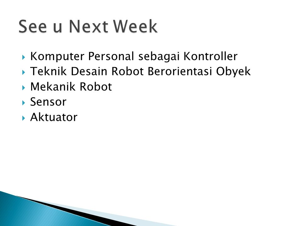 See u Next Week Komputer Personal sebagai Kontroller