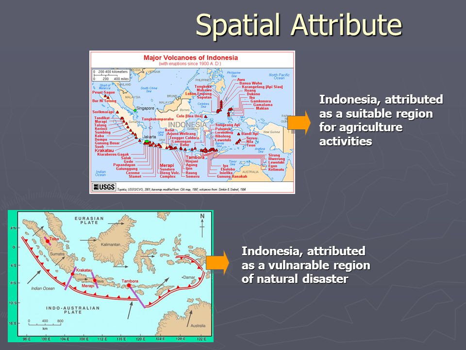 Spatial Attribute Indonesia, attributed as a suitable region for agriculture activities.