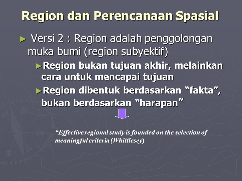 Region dan Perencanaan Spasial