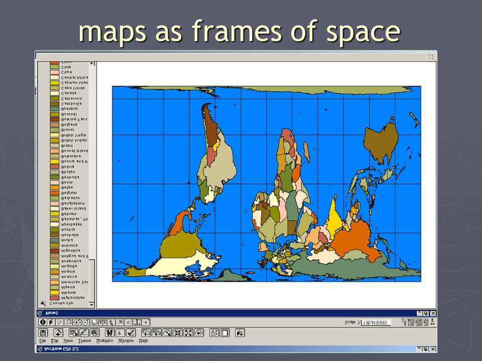 maps as frames of space