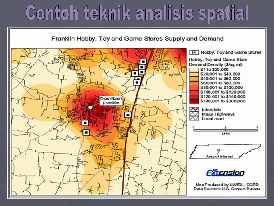 Contoh teknik analisis spatial