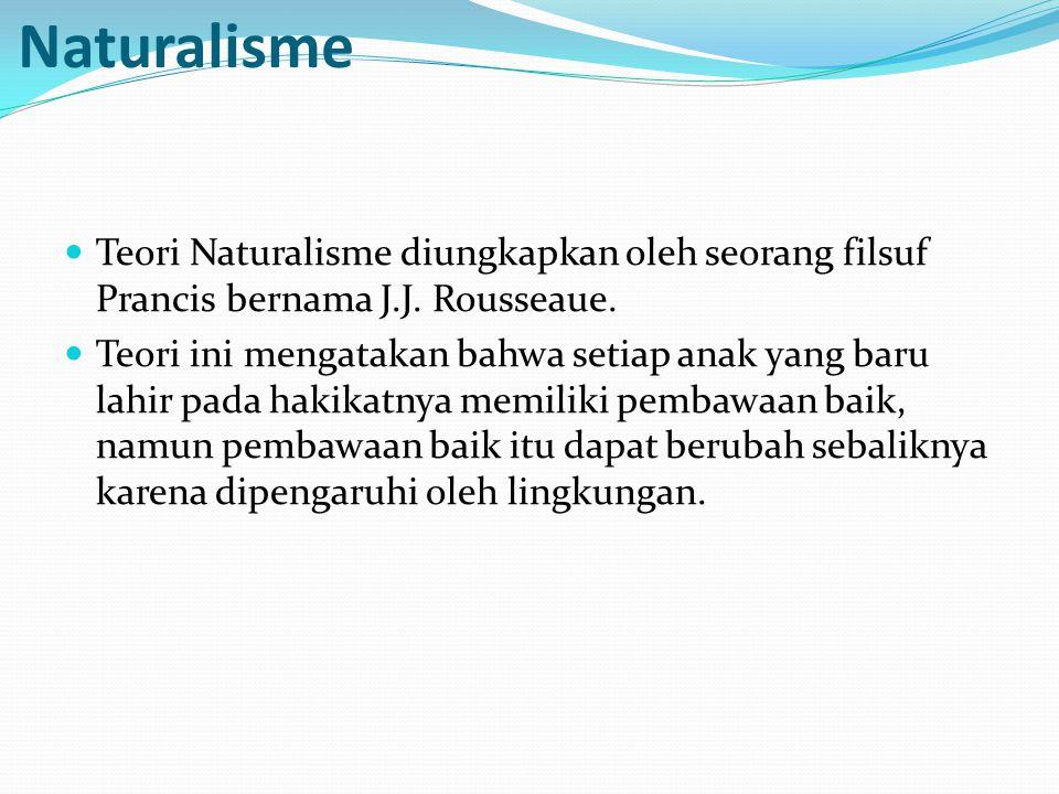 Teori pendidikan menurut aliran Naturalisme