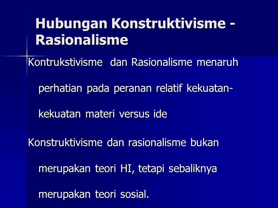 Hubungan Konstruktivisme - Rasionalisme