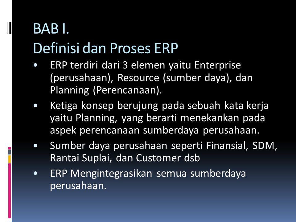 BAB I. Definisi dan Proses ERP