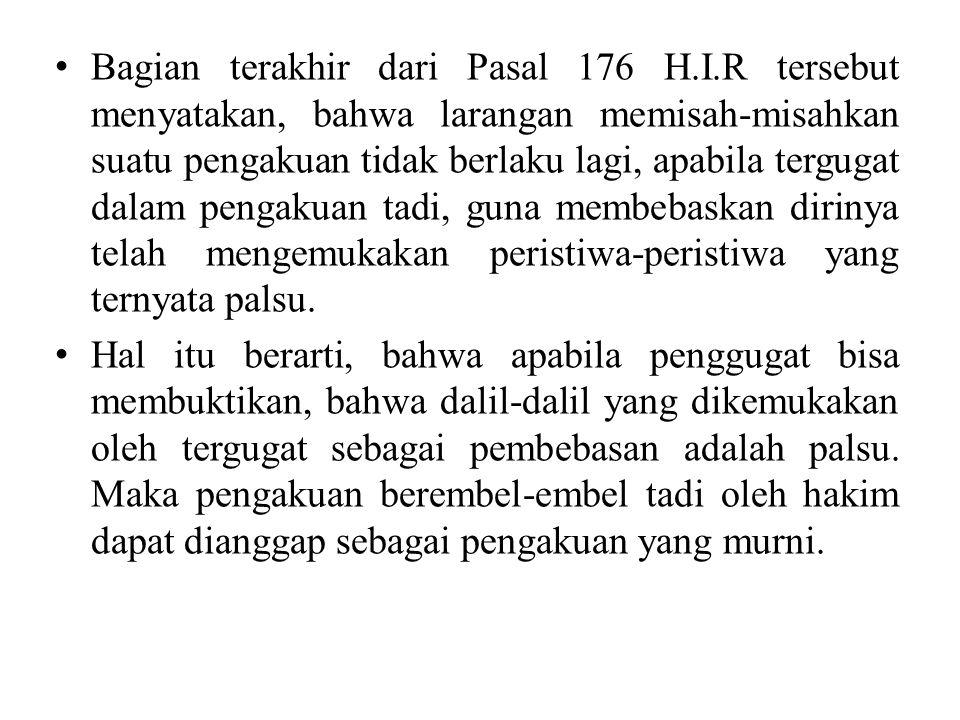 Bagian terakhir dari Pasal 176 H. I